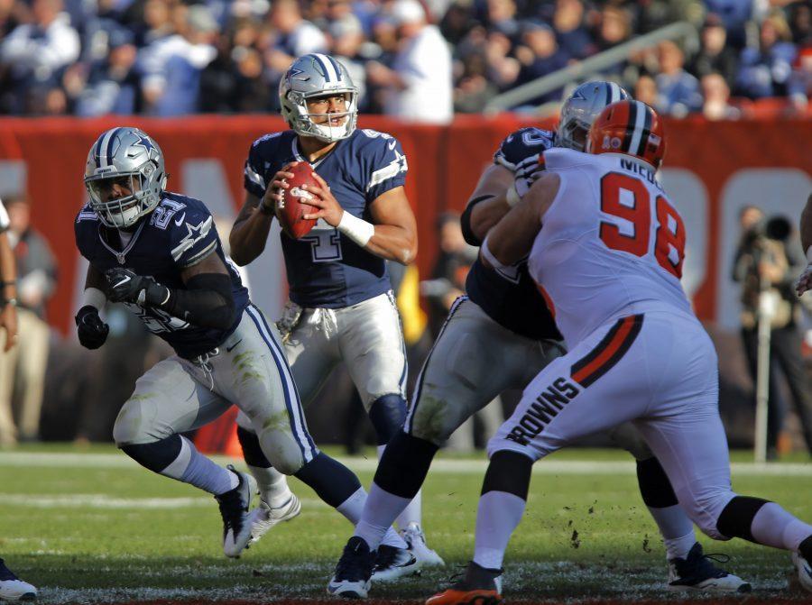 Dallas+Cowboys+quarterback+Dak+Prescott+%284%29+looks+to+pass+in+the+third+quarter+as+the+Dallas+Cowboys+defeat+the+Cleveland+Browns+35-10+on+Sunday%2C+Nov.+6%2C+2016+in+FirstEnergy+Stadium+in+Cleveland%2C+Ohio.+%28Rodger+Mallison%2FFort+Worth+Star-Telegram%2FTNS%29