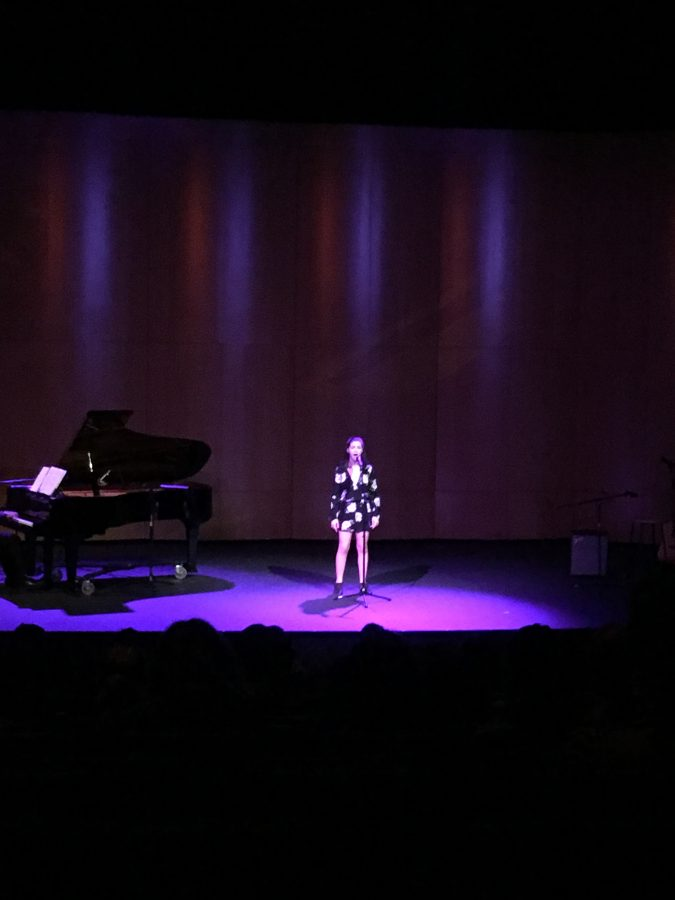 Singers perform in Vocal Solo Show