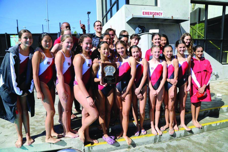 MS swimming ends with victories