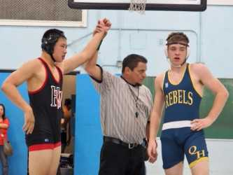 Boys wrestling vies for victory