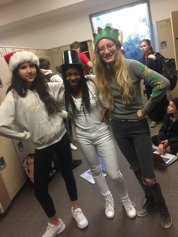Middle+School+Students+dress+up+to+celebrate+the+winter+season