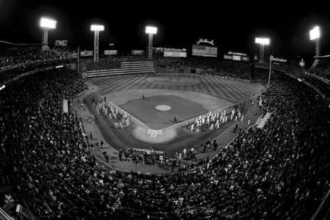 Boston, MA, October 12, 2013: The flag drop during the pregame ceremony before game one of the ALCS against the Detroit Tigers. (Photo by Michael Cummo/Boston Red Sox)