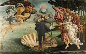 Sanders in the Venus di Milo