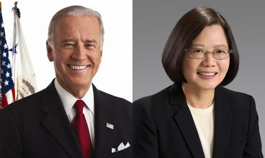 American President Joe Biden and Taiwanese President Tsai Ing-wen